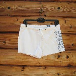 NWT Aeropostale White Blue Cut Off Sweat Shorts